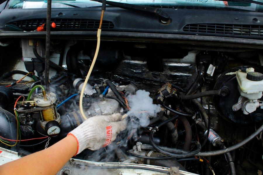 проверка дымогенератором