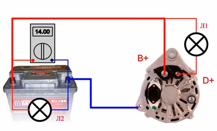 диагностика генератора дрелью